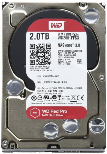 Red Pro (NAS) - 2TB 7200rpm DATA3 64MB 3.5